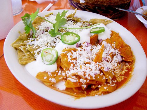 High quality photo of recipe chilaquiles
