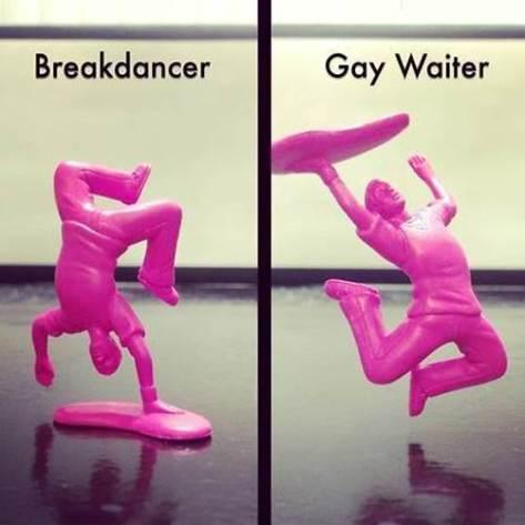 breakdancer vs gay waiter