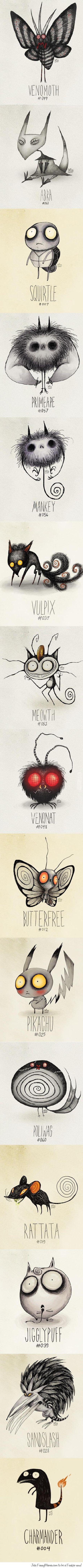 Los pokemons de Tim Burton