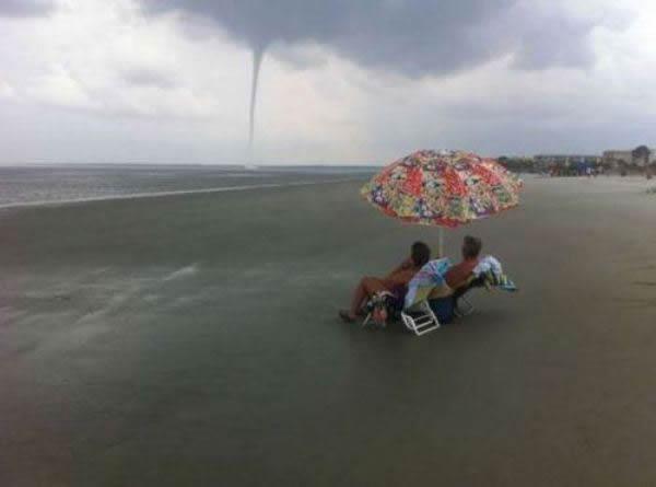 Tornado en Pinamar!