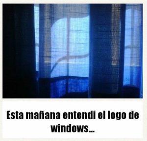 esta mañana entendi el logo de windows