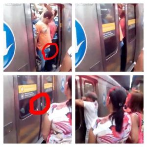 una tarde casual en el metro